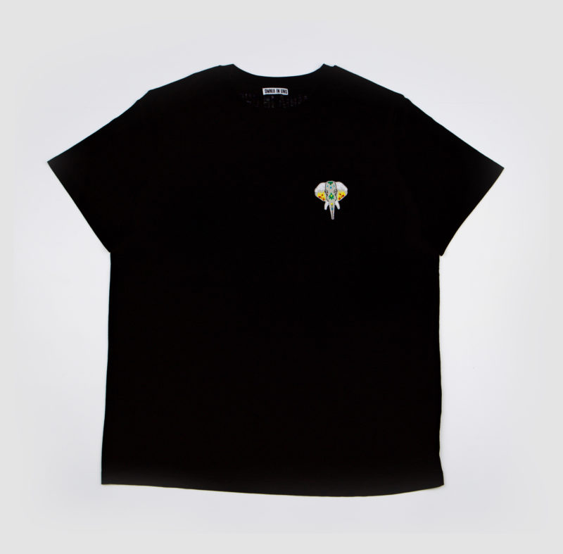 Black T-shirt • Silver logo OMNIA IN UNO