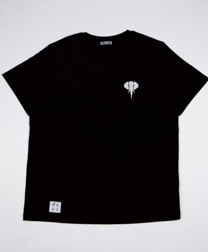 Black T-shirt • White logo OMNIA IN UNO