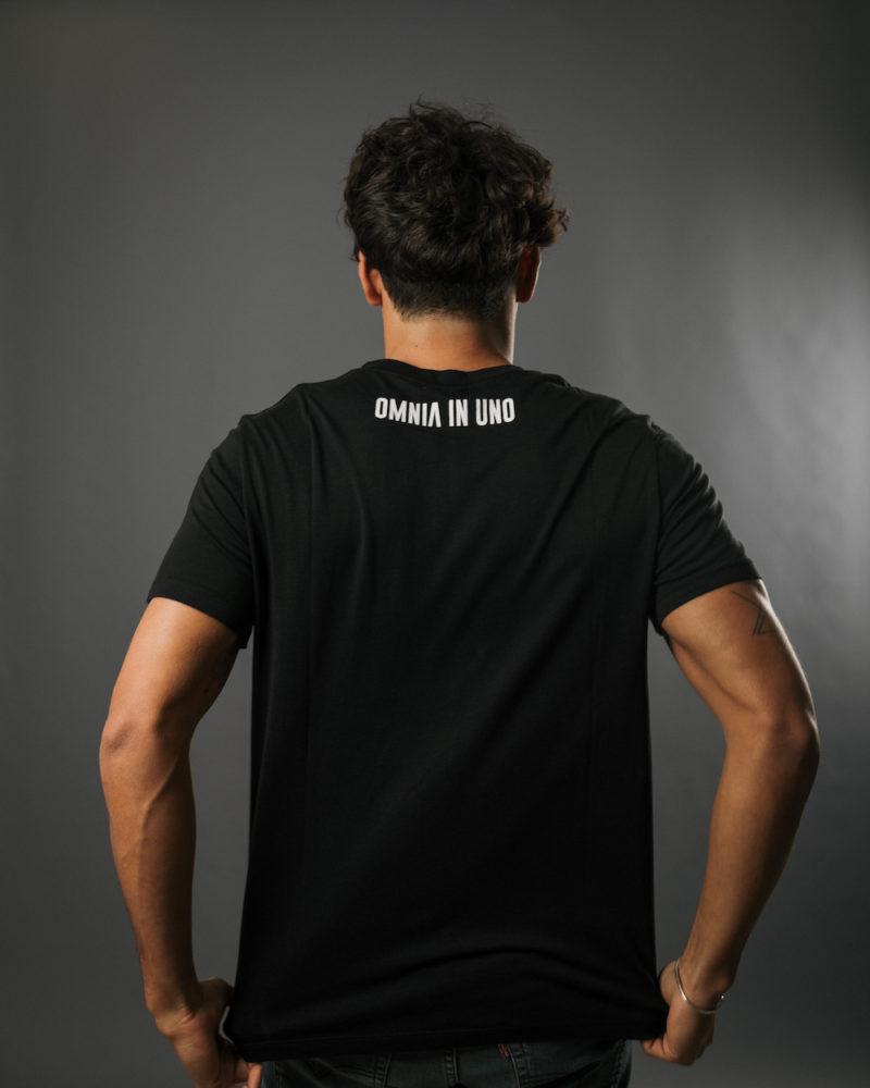 T-shirt Noir DOS TENCEL LYOCELL COTON BIO OMNIA IN UNO ORGANIC COTTON