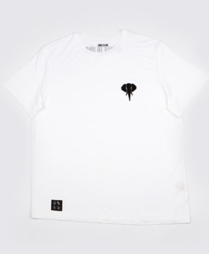 White T-shirt • Black logo