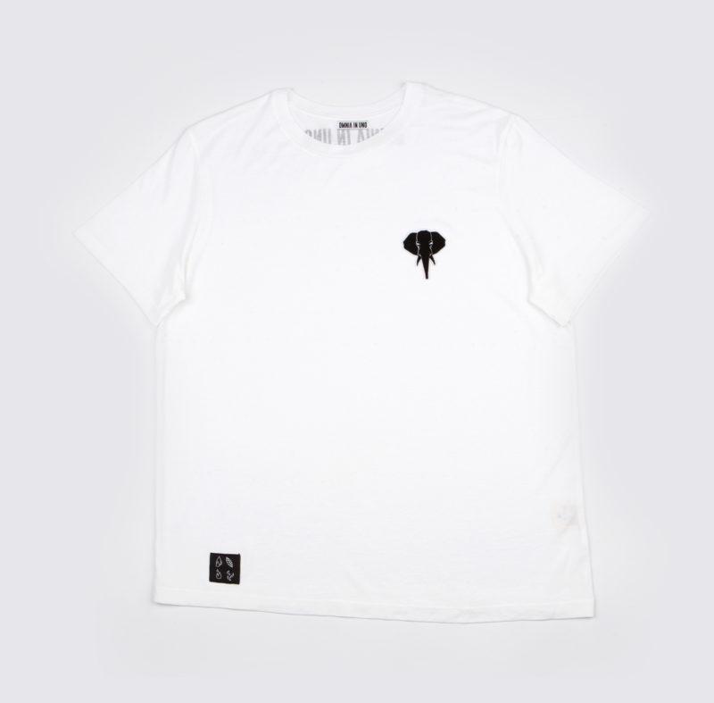 White T-shirt • Black logo