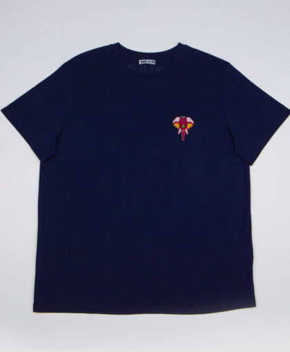 Navy T-shirt • Burgundy logo OMNIA IN UNO