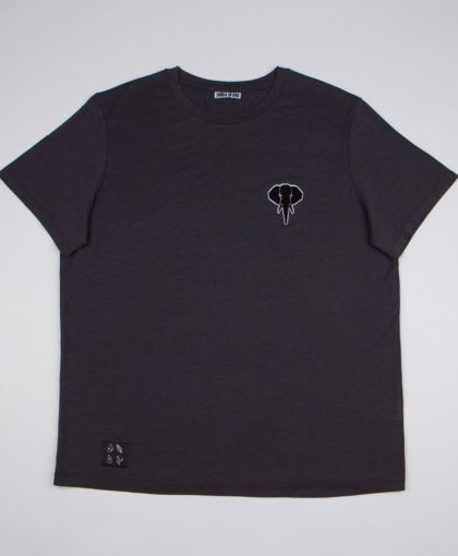 Dark grey T-shirt • Black logo OMNIA IN UNO