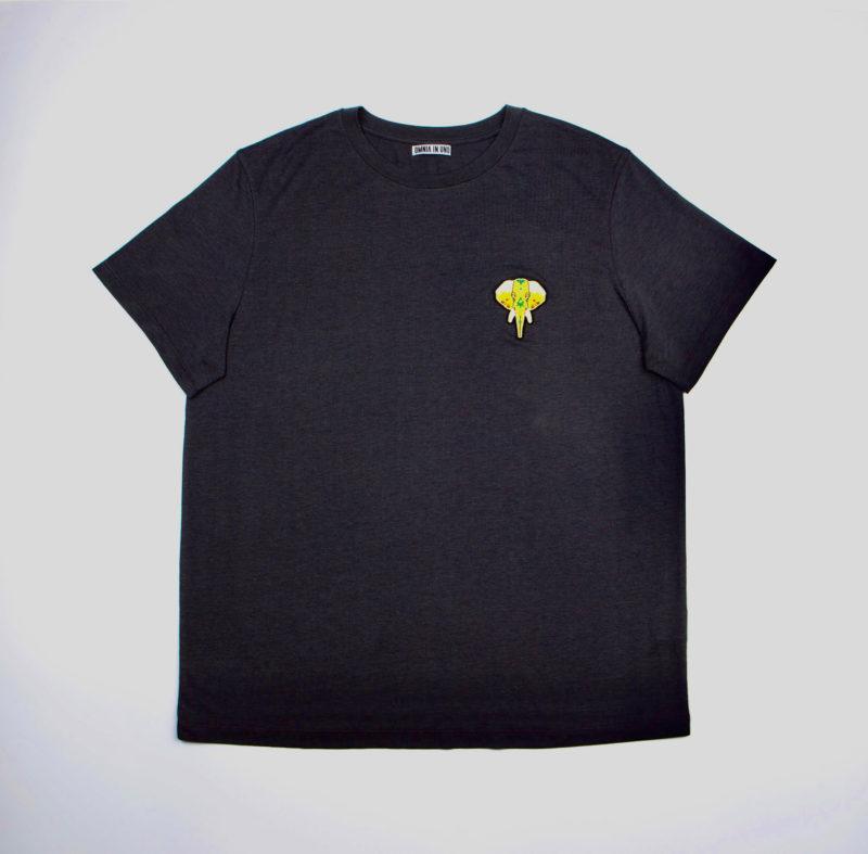 Dark grey T-shirt • Gold logo OMNIA IN UNO