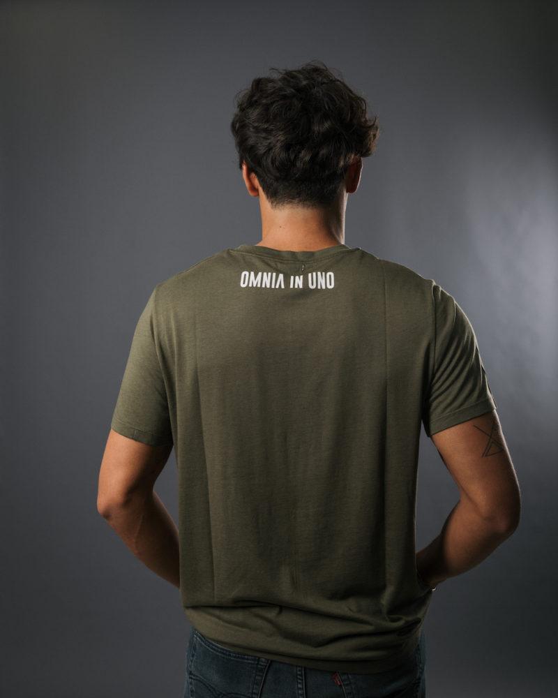 t-shirt kaki dos TENCEL LYOCELL COTON BIO OMNIA IN UNO ORGANIC COTTON