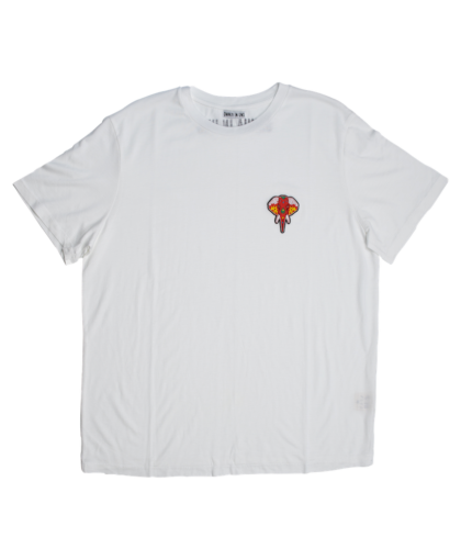 t-shirt blanc - logo rouge omnia in uno