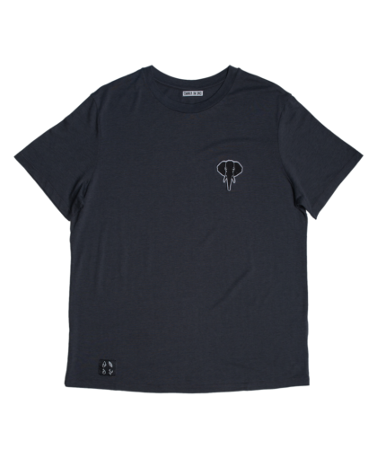 t-shirt gris - logo noir omnia in uno