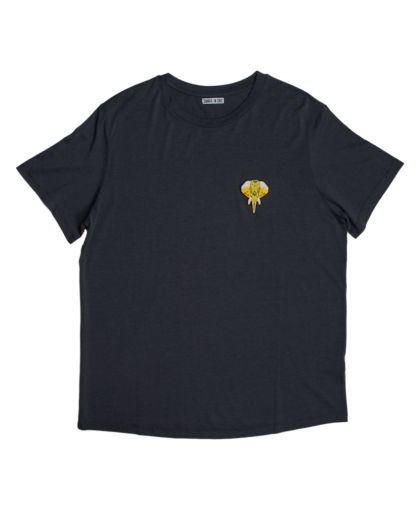 t-shirt gris - logo or omnia in uno