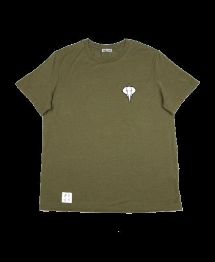 T-shirt kaki logo blanc TENCEL LYOCELL COTON BIO OMNIA IN UNO ORGANIC COTTON