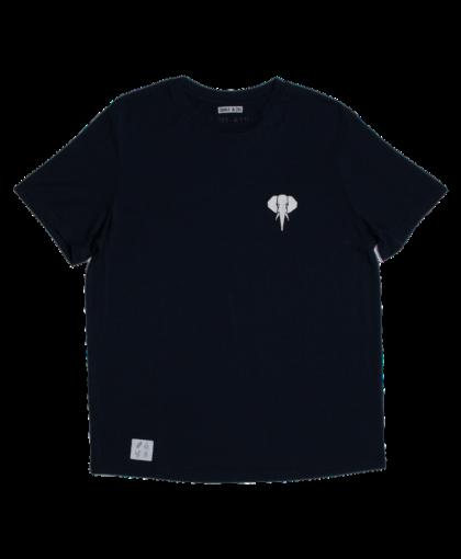 t-shirt navy - logo blanc omnia in uno