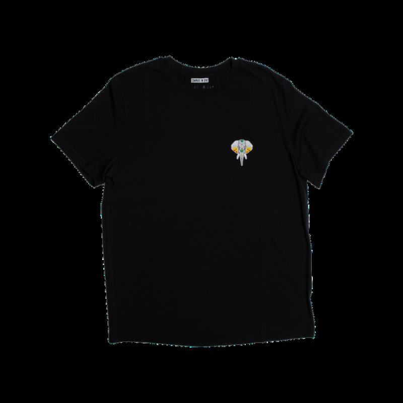 t-shirt noir - logo argent omnia in uno