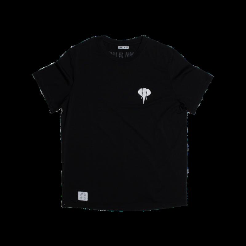 t-shirt noir - logo blanc omnia in uno