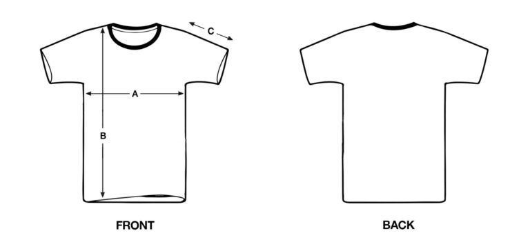Size chart t-shirt OMNIA IN UNO