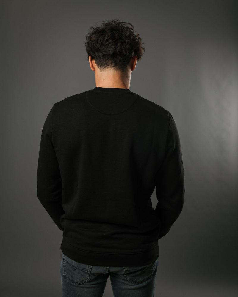 Black sweatshirt BACK OMNIA IN UNO