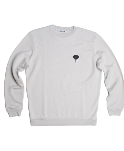 grey sweatshirt black logo omnia in uno