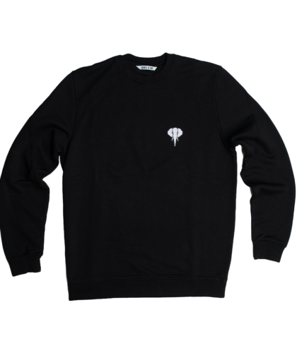 black/sweatshirt-white/logo omnia in uno
