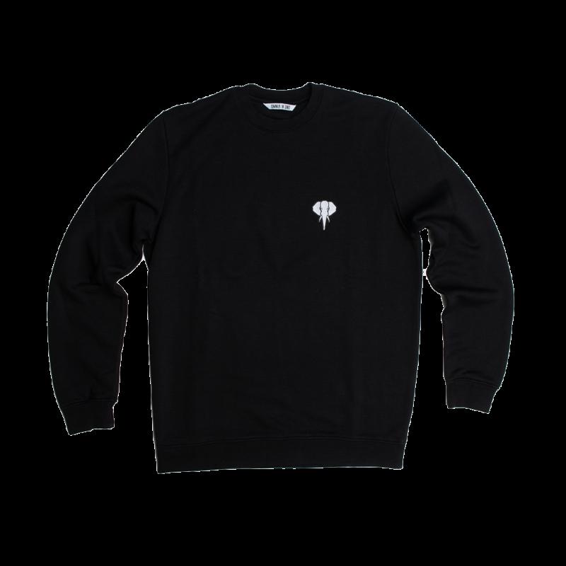 black/sweatshirt-white/logo omnia in uno