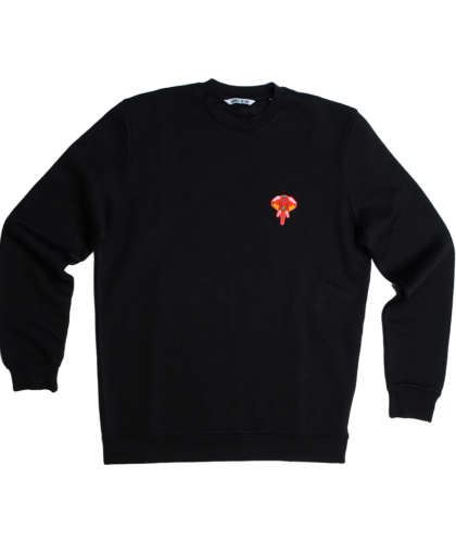 black/sweatshirt - red logo omnia in uno