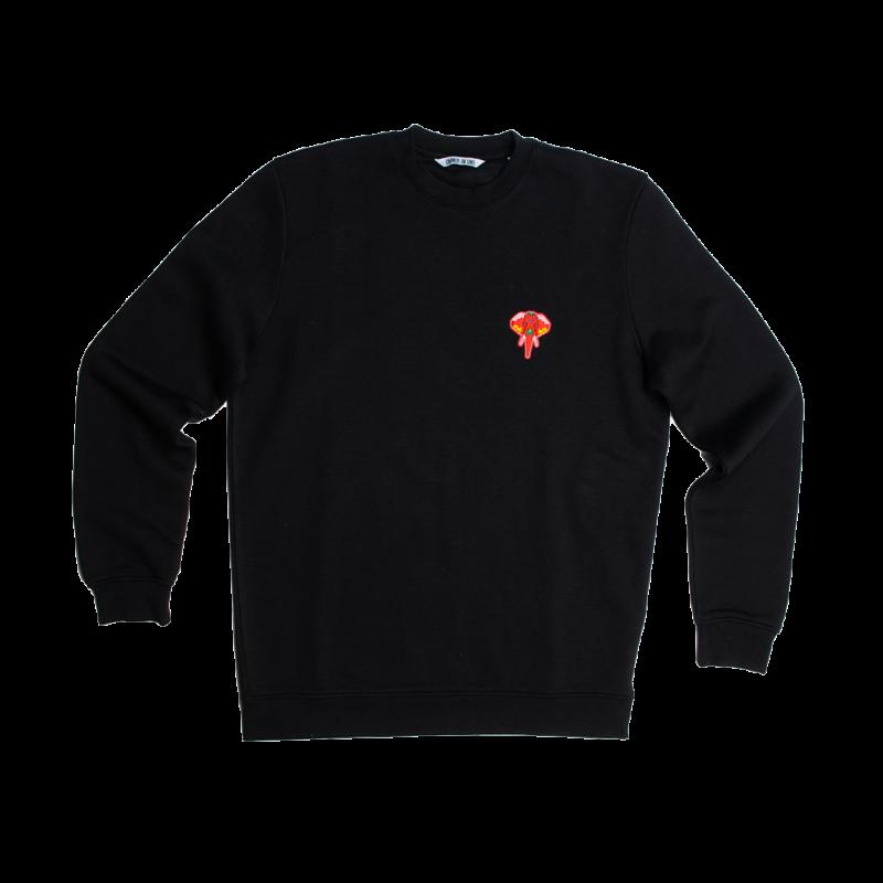 black/sweatshirt - red logo omnia in uno
