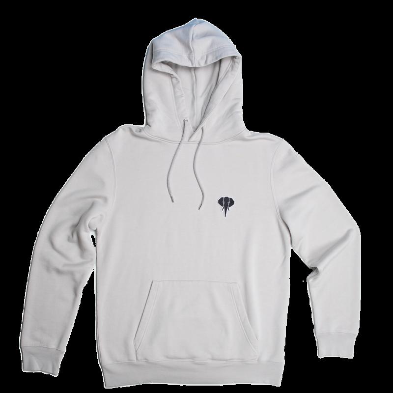 grey hoodie - black logo omnia in uno